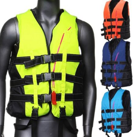 CAMTOA Traditional Life Vest Life Jacket Vest-PFD Fully Enclose Polyester Foam With Whistle For Adult Jet Skiing Boating Surfing Water Fishing Rescuing