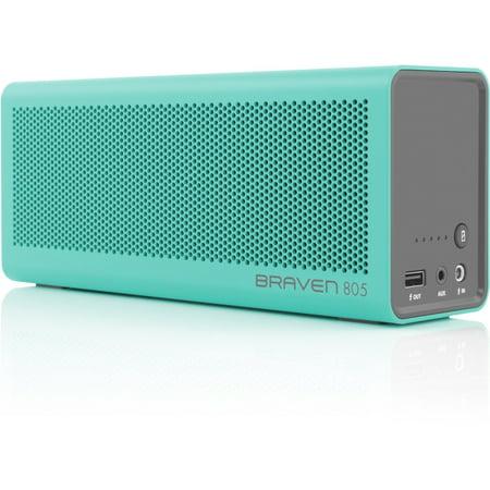 Braven 805 Portable Wireless Speaker - Teal/Gray Braven 805 Portable Wireless Speaker - Teal/Gray