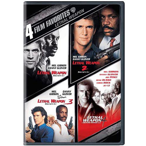 4 Film Favorites: Lethal Weapon / Lethal Weapon 2 / Lethal Weapon 3 / Lethal Weapon 4 (Widescreen)