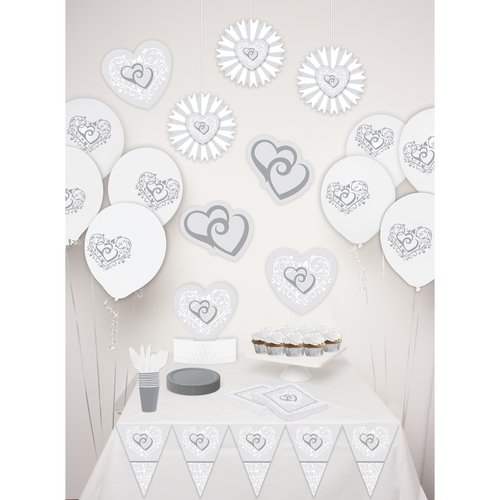 Way to Celebrate Wedding Decor Kit, White