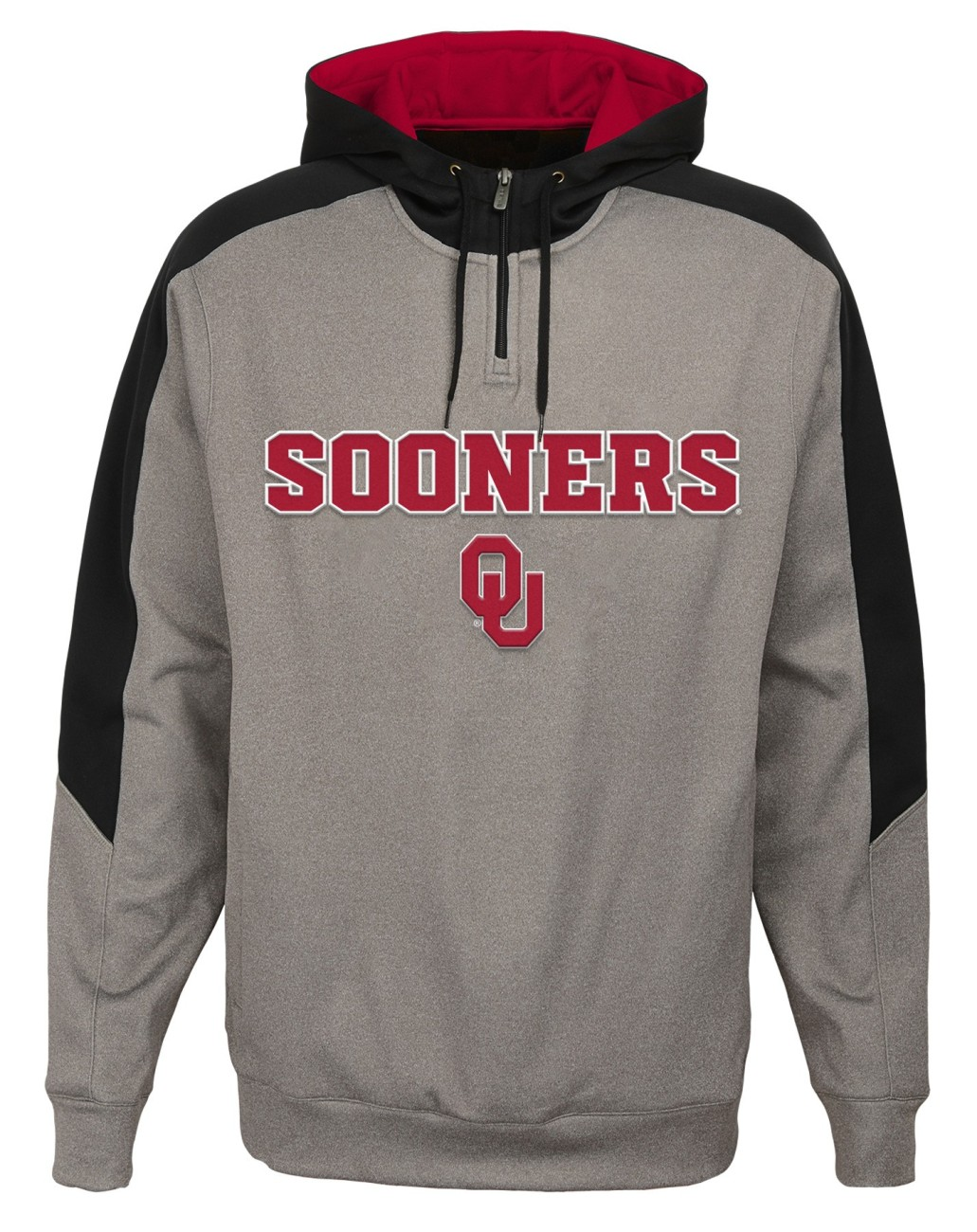 "Oklahoma Sooners NCAA ""Illustrious"" Men's 1 4 Zip Pullover Hooded Jacket by Gen2"