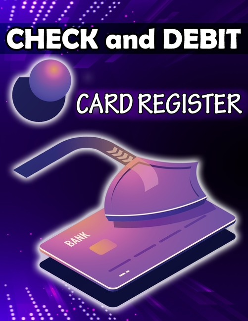 check and debit card register simple account tracker