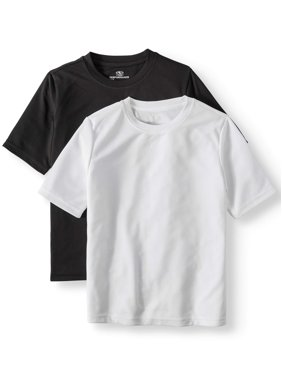 de9018da6925 Product Image Athletic Works Short Sleeve Solid Performance Tee, 2-Pack Set  Value Bundle (Little
