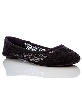 Charles Albert Women's Breathable Crochet Lace Ballet Flat