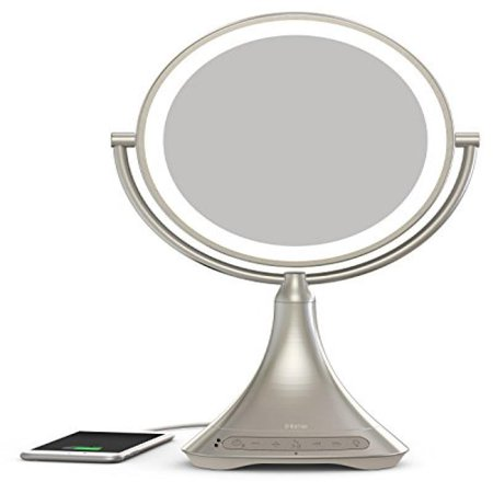 Large Four Light Vanity - iHome All-In-One, 7X MAGNIFY, 9
