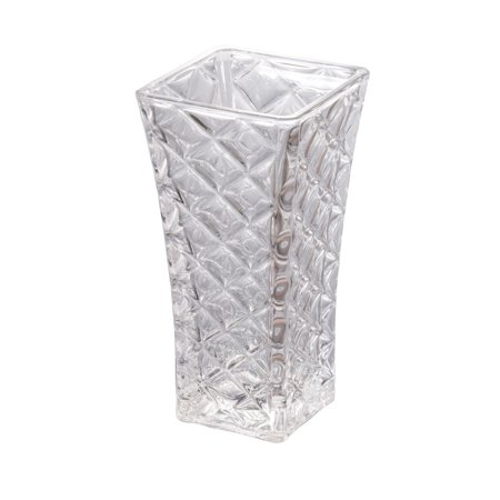 11.75 Crystal White Shock Resistant Clear Glass Floral Vase White Floral Glass