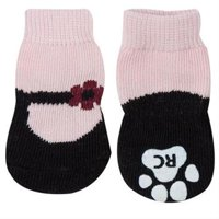 Pink Mary Janes PAWKS Dog Socks XX-Small