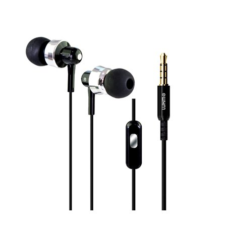Electronic Accessories BusBuds Black 3.5mm High Quality Stereo Earphones with In-line Microphone  (Multipack of 6)