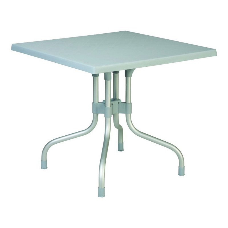 Compamia ISP770-SGRY Forza 31 in. Square Folding Table Silver Grey by Compamia