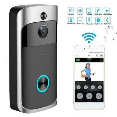 Wireless WiFi Video Doorbell Smart Phone Door Ring Intercom Security Camera