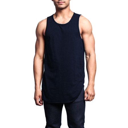 afe6acf7e9b48 Victorious - G-Style USA Solid Color Long Length Curved Hem Tank Top TT47 -  NAVY - 2X-Large - A4D - Walmart.com
