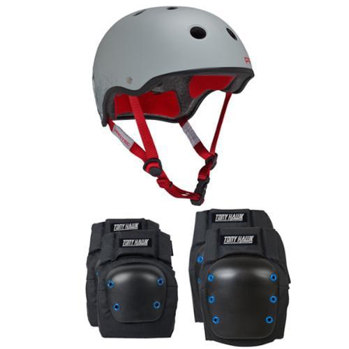 Pro Tec Skateboard Helmet CLASSIC HASSAN Size Extra Small + TONY HAWK PADS
