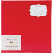 "Project Life Classic Faux Leather D-Ring Album, 6"" x 8"", Cherry"