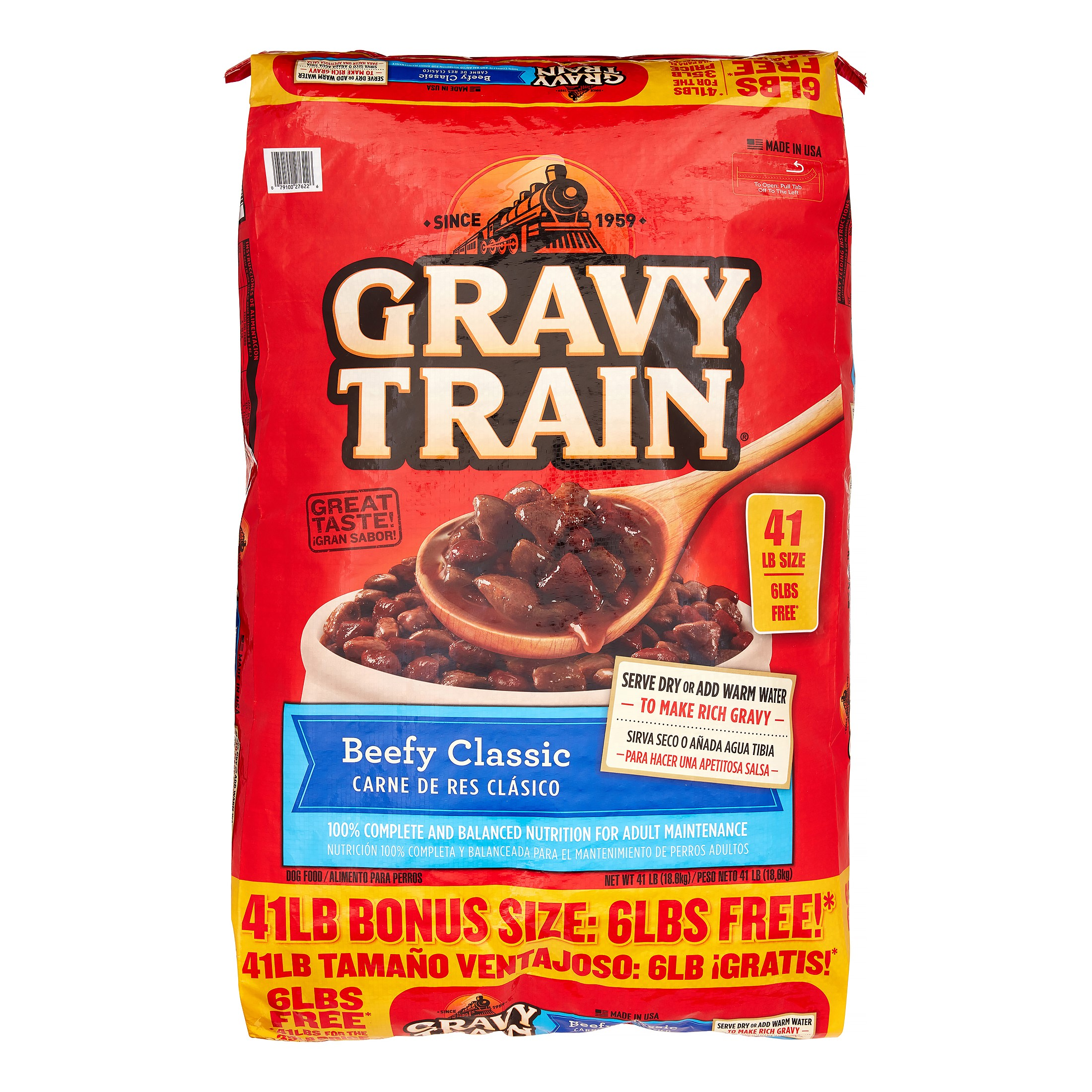 Gravy Train Beefy Classic Bonus Bag Dry Dog Food, 41 Lb