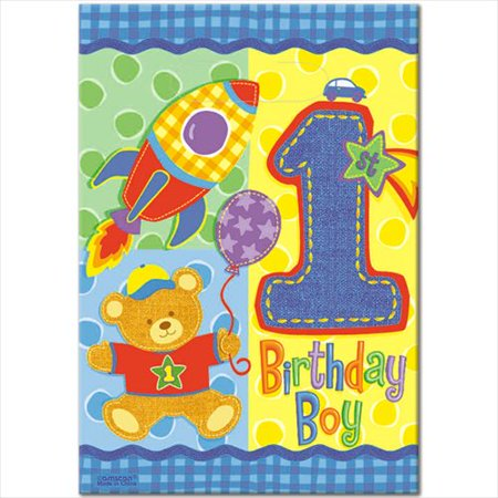 (1st Birthday Hugs & Stitches Teddy Bear Favor Bags (8ct))