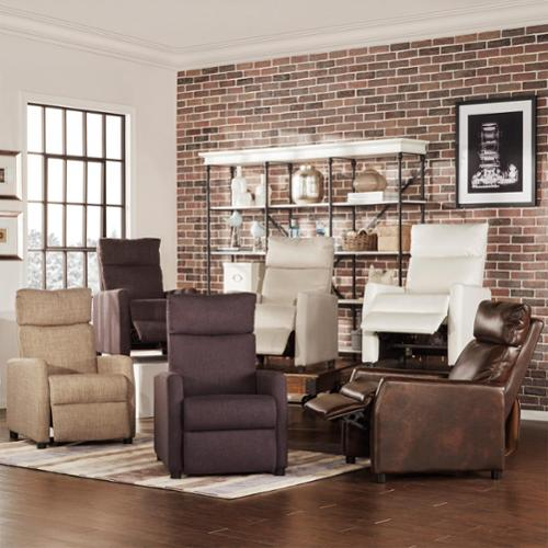 TRIBECCA HOME Saipan Modern Recliner Club Chair Gray Fabric