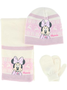 Textiel Trade Toddler Minnie Mouse Hat Scarf and Mitten 3-Piece Set