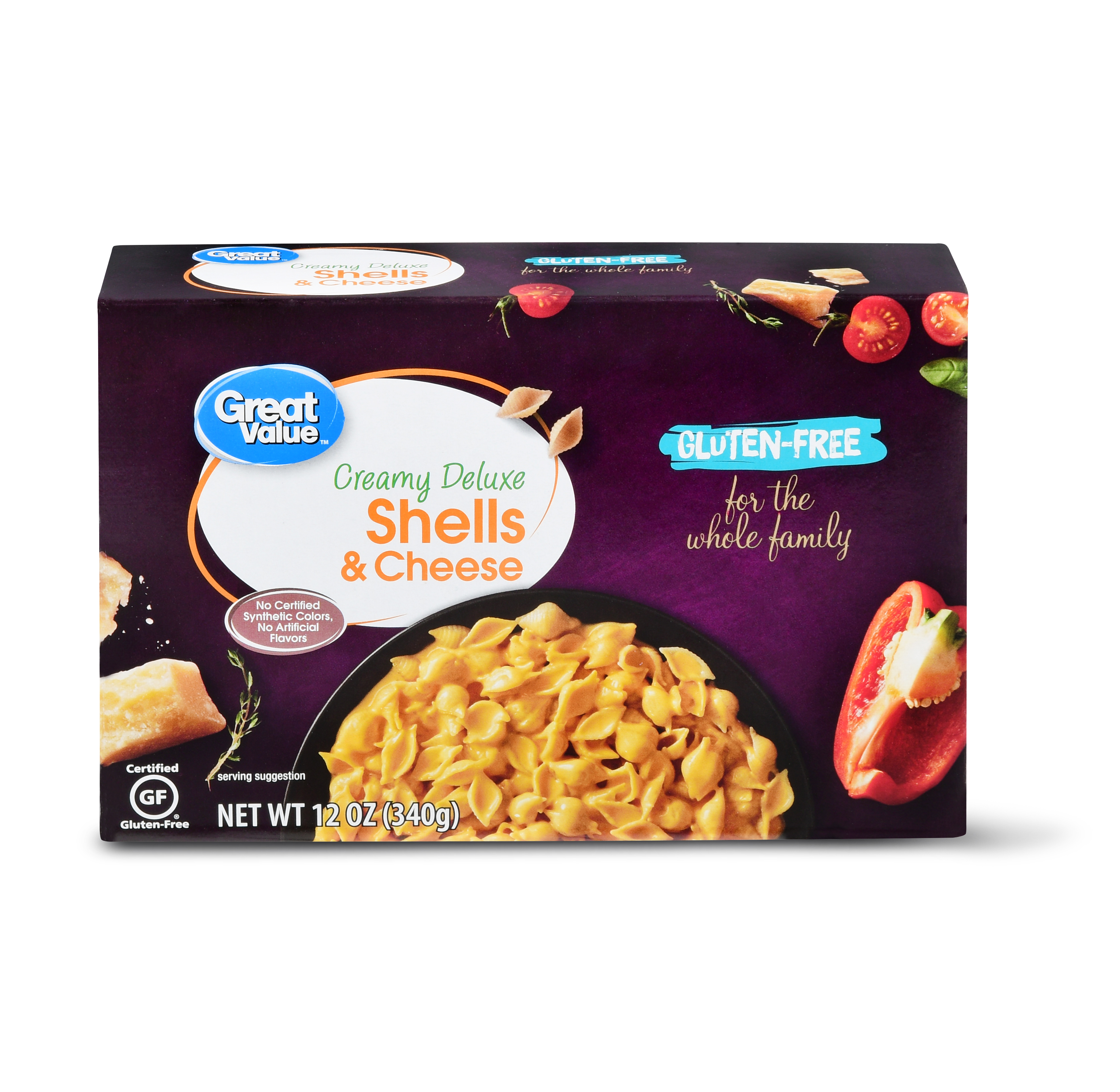 Great Value Gluten-Free Creamy Deluxe Shells & Cheese, 12 oz