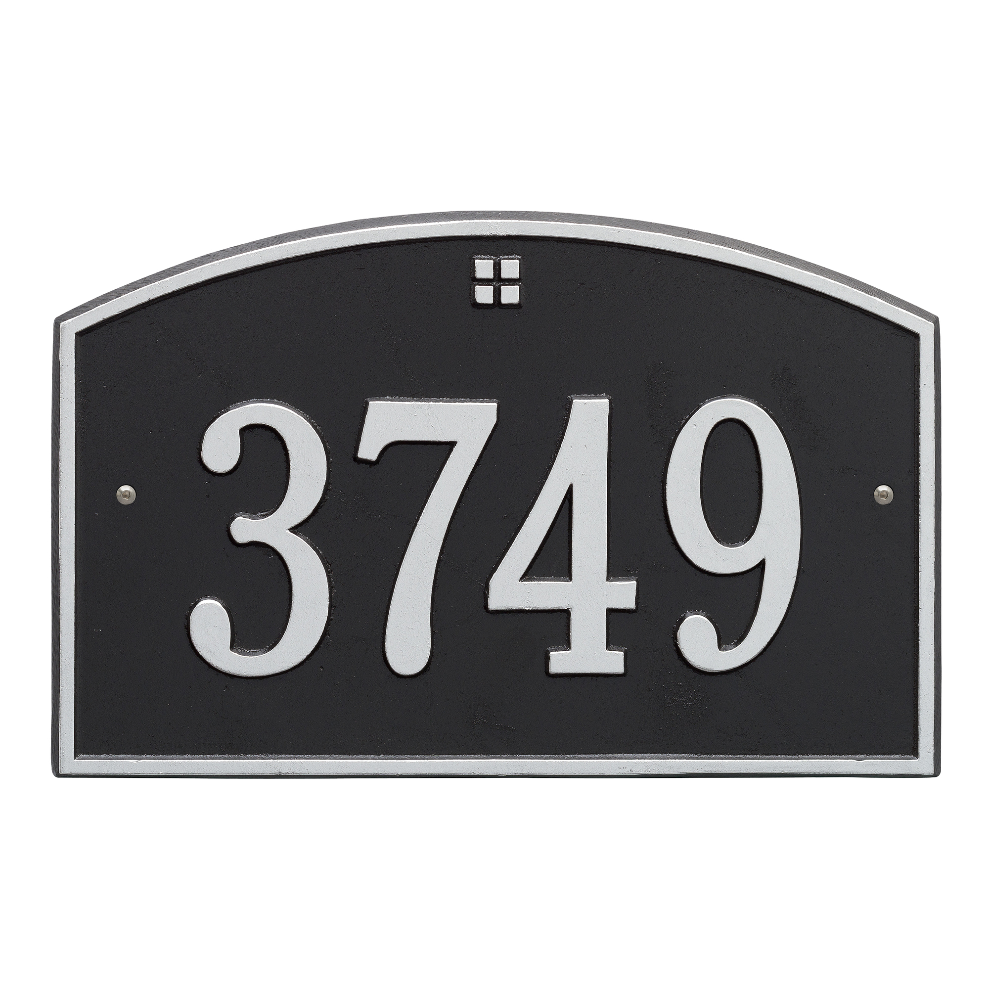 Personalized Whitehall Products Cape Charles 1- Line Address Plaque in Black Silver by Whitehall