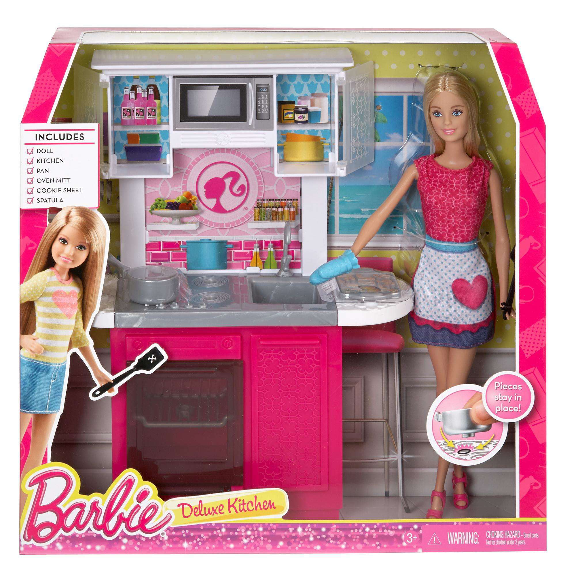 Barbie Deluxe Kitchen And Doll Walmart Com