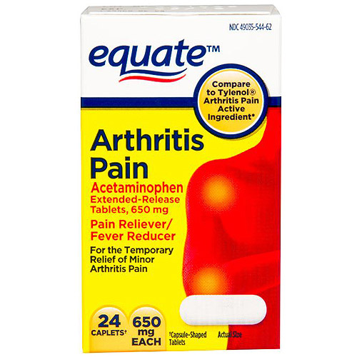 Equate Arthritis Caplets, 24 count