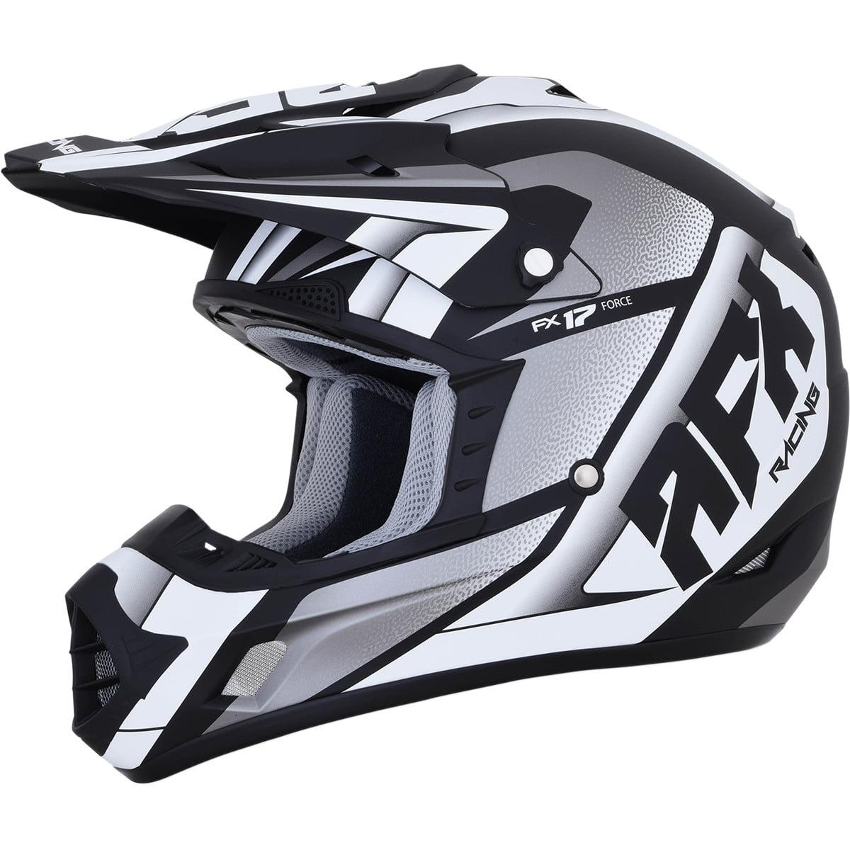 AFX FX-17 Offroad Helmet (Force Black/White Matte, X-Small)