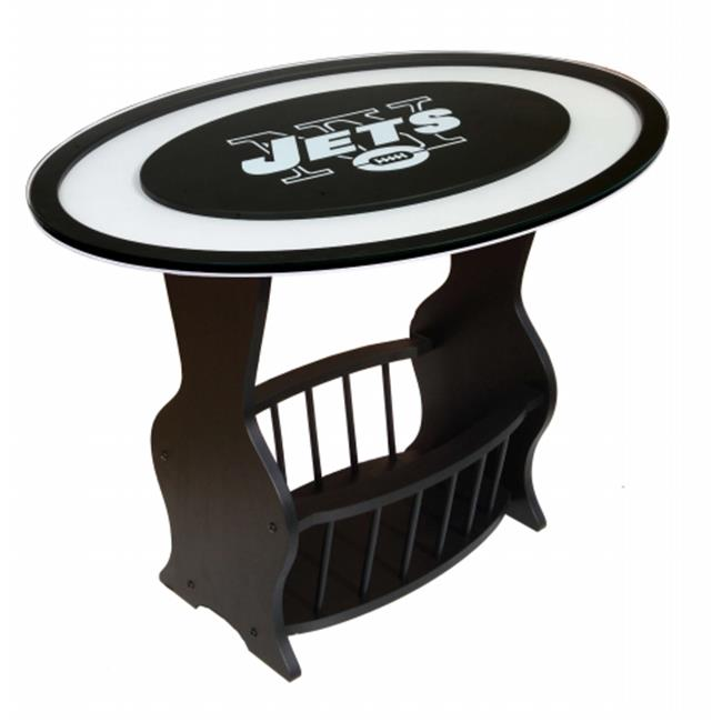 Adventure Furniture N0537-NYJ New York Jets Logo End Table
