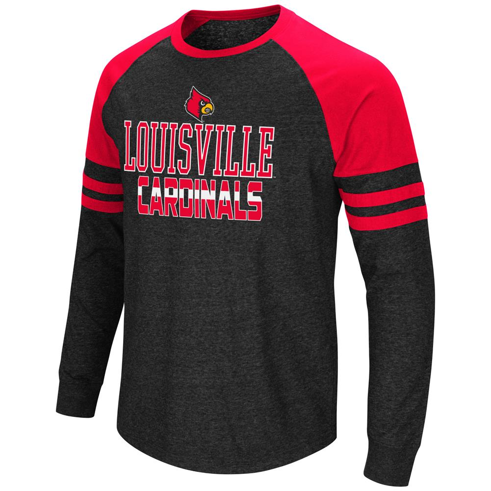 Louisville Cardinals Long Sleeve Shirt Hybrid Raglan Tee