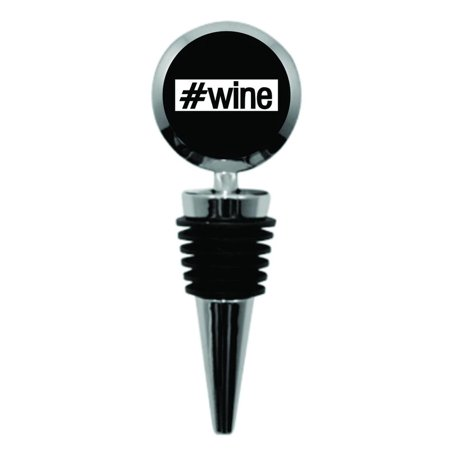 #Wine - Cute - Hashtag - Expression - Metal Wine Bottle Stopper - Round Shaped