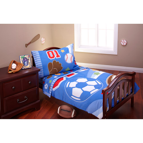 DISCONTINUED - Everything for Kids - Lil' All Star 4-Piece Toddler Bedding Set