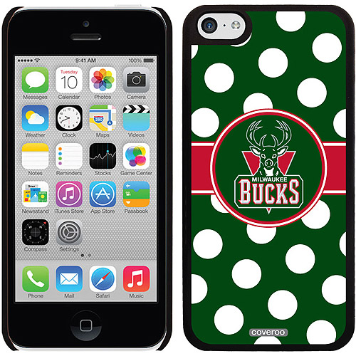 Milwaukee Bucks Polka Dots Design on Apple iPhone 5c Thinshield Snap-On Case by Coveroo