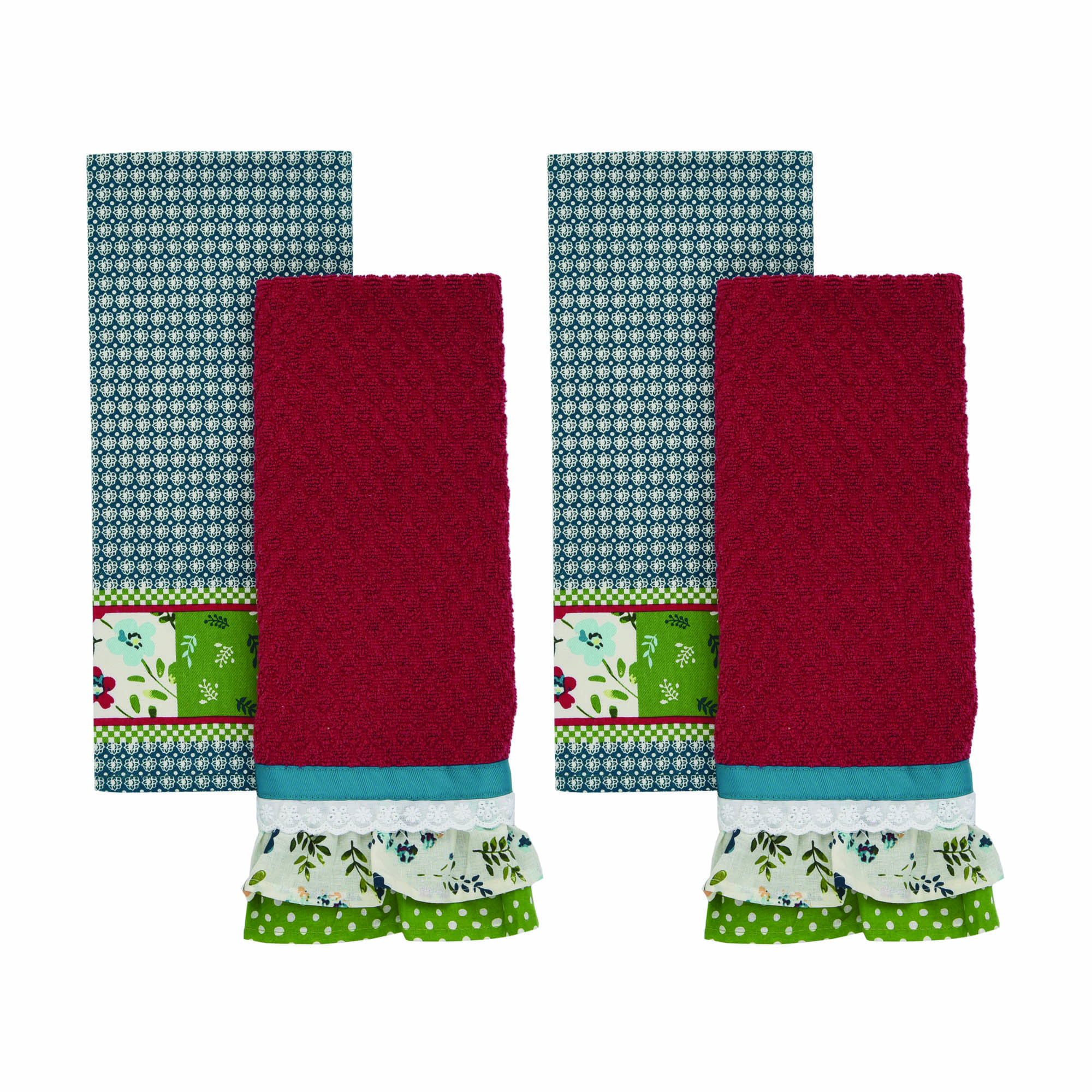 The Pioneer Woman, Kari Diamond 4 Pack Kitchen Towel set