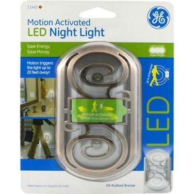 GE Motion Activated LED Night Light, Brown