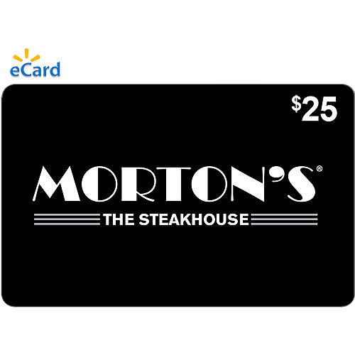 Morton's The Steakhouse $25 eGift Card (Email Delivery)