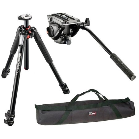 Manfrotto MT055XPRO3 / MVH500AH Professional Video Tripod Kit and a Vidpro 35