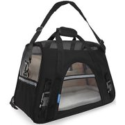We offer Pet Carrier Soft Sided Large Cat / Dog Comfort Black Travel Bag Airline Approved [Istilo236