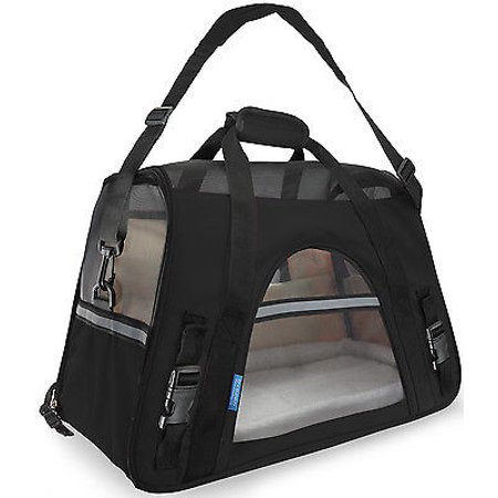 We Offer Pet Carrier Soft Sided Large Cat   Dog Comfort Black Travel Bag Airline Approved  Istilo236780