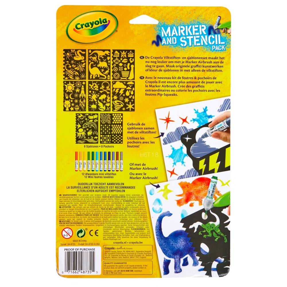 Airbrush Marker and Stencil Pack