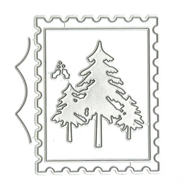 Christmas Tree Die Cut Stencil Flowering Memory Box Metal Cutting Dies Holidays