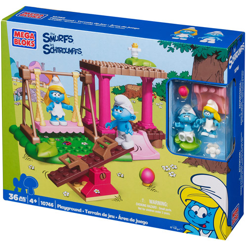 Mega Bloks Smurfs Playground Play Set by Mega Bloks