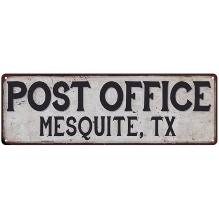 Mesquite Tx Post Office Personalized Metal Sign Vintage 6x18 206180011171