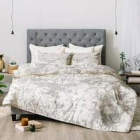 Amy Sia Crackle Batik Pale Gray Comforter by Deny Designs