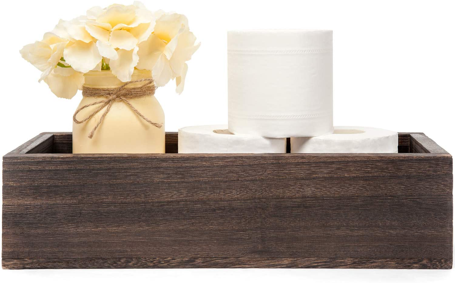 Bathroom Decor Box Wooden Toilet Paper Holder Funny Home Decor Box for Bathroom Table and Counter Rustic Grey Kitchen