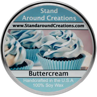 BUTTER CREAM TUREEN 8-OZ. ALL NATURAL SOY CANDLE