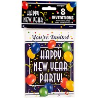 product image new years blast party invitations 8 count