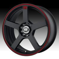 Mr116 16X7 5X100.00/5X114.30 Matte Black W/ Red Stripe (40 Mm)