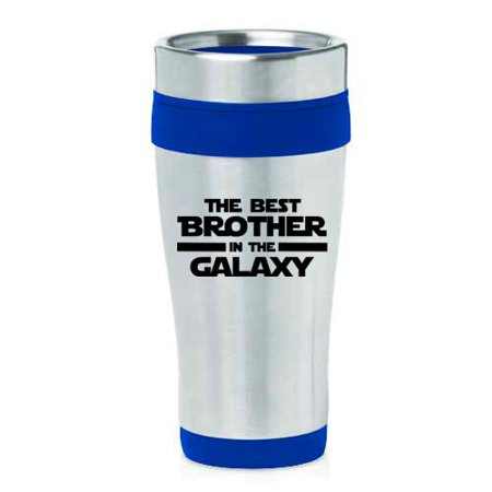 16 oz Insulated Stainless Steel Travel Mug Best Brother In The Galaxy (Blue) Galaxy Travel Mug
