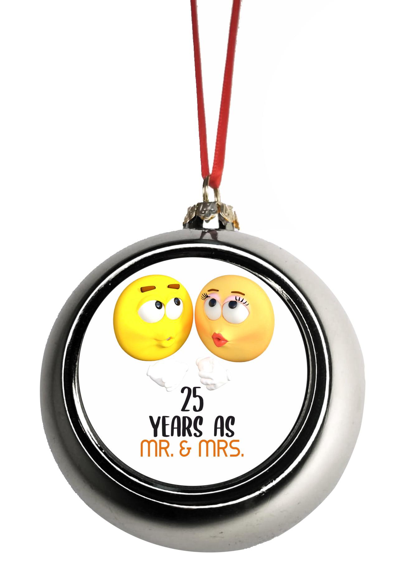 25 Year Anniversary Christmas 25th Anniversary Ornament ...