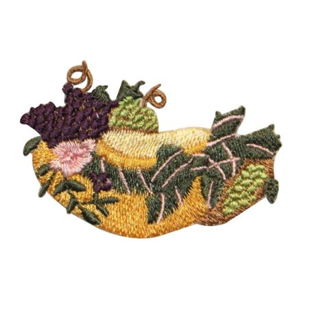 ID 1304 Bonnet With Bow And Fruit Patch Fancy Hat Embroidered Iron On Applique