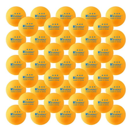 KEVENZ 60-Pack 3-Star 40mm Orange Table Tennis Balls, Advanced Ping Pong Ball - Halloween Eyeball Ping Pong Balls